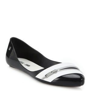 Melissa Karl Legerfeld Women's Trippy Zipper Flats